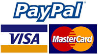 MasterCard & Visa Debit and Credit and PayPal Accepted