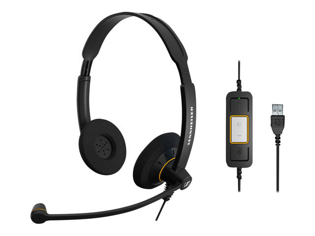 Sennheiser SC 60 USB ML SC 30/60 UC Deployment Headset Range (Binaural UC headset with Call Control for Lync)