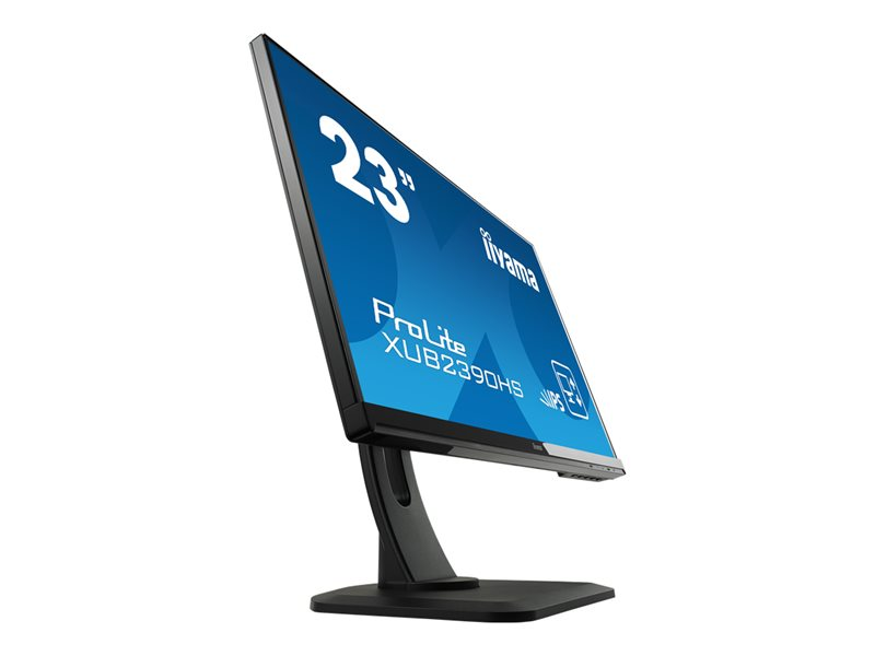 Iiyama Prolite XUB2390HS-B1 23 IPS Ultra Slim Bezel, Height Adjustable IPS, 5ms, 1 x VGA, 1 x HDMI, 1 x DVI-D, Speakers, Black