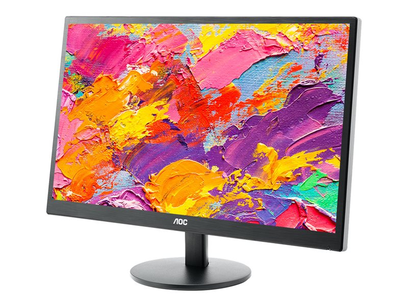 AOC Monitor M2470SWH LED  - 23.6 (23.6 viewable) - 1920 x 1080 Full HD (1080p) - MVA - 250 cd/m2 - 1000:1 - 5 ms - 2xHDMI, VGA - speakers - black