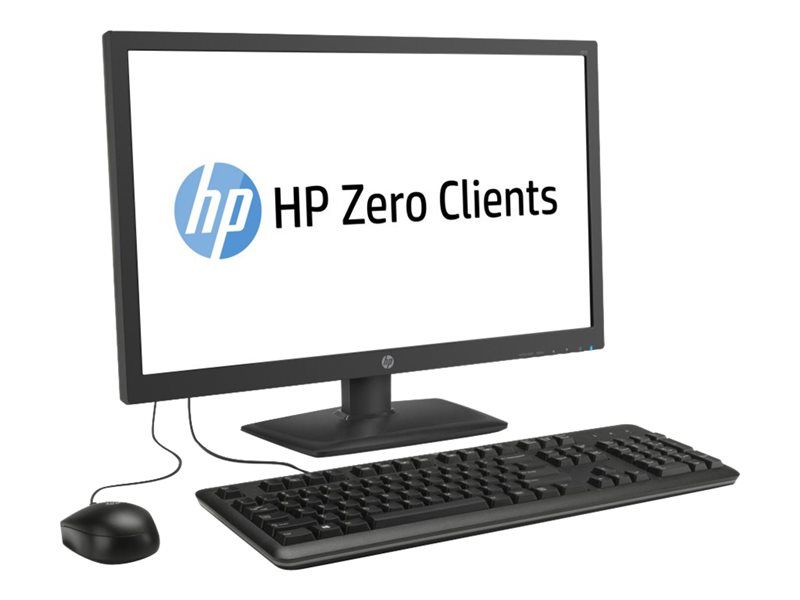 HP t310 - Zero client - all-in-one - 1 x Tera2321 - RAM 512 MB - no HDD - GigE - monitor: LED 23.6 1920 x 1080 (Full HD)