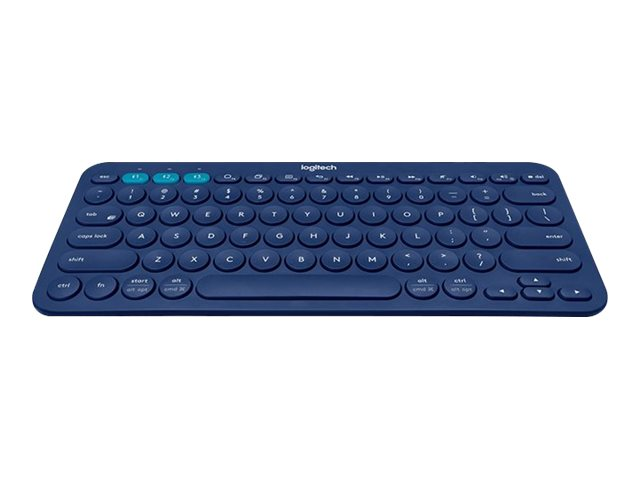 Logitech Multi-Device K380 - Keyboard - Bluetooth - UK English - blue