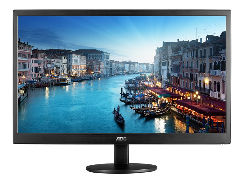 AOC E2470SWH - LED monitor - 23.6 (23.6 viewable) - 1920 x 1080 Full HD (1080p) - TN - 250 cd/m? - 1000:1 - 1 ms - HDMI, DVI, VGA - speakers - black