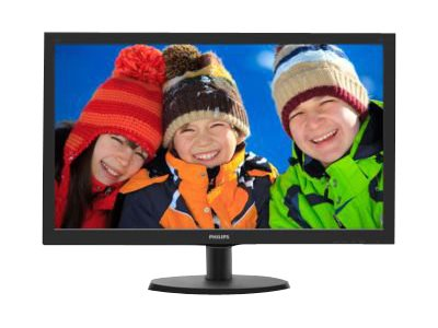 Philips V-line 223V5LHSB2 - LED monitor - 22 (21.5 viewable) - 1920 x 1080 Full HD (1080p) - 200 cd/m? - 600:1 - 5 ms - HDMI, VGA - textured black, black hairline