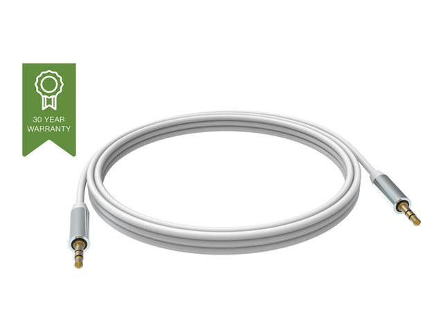 VISION Professional installation-grade stereo mini jack cable - LIFETIME WARRANTY - gold plated connectors - double-insulated with aluminium foil - tinned copper spiral shielding - mini jack (M) to mini jack (M) - outer diame