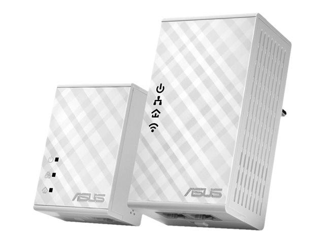 ASUS PL-N12 Kit - Bridge - 2-port switch - HomePlug AV (HPAV) - 802.11b/g/n - wall-pluggable
