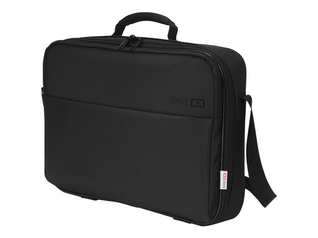 DICOTA BASE XX Multi Laptop Bag 15.6 Black. Lockable notebook compartment. Padding all around laptop compartment for extra protection. Comfortable carrying handle and adjustable shoulder strap. Clamshell style. 5 year warran