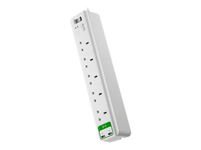 APC SurgeArrest Essential - Surge protector - AC 230 V - output connectors: 7 - United Kingdom - white