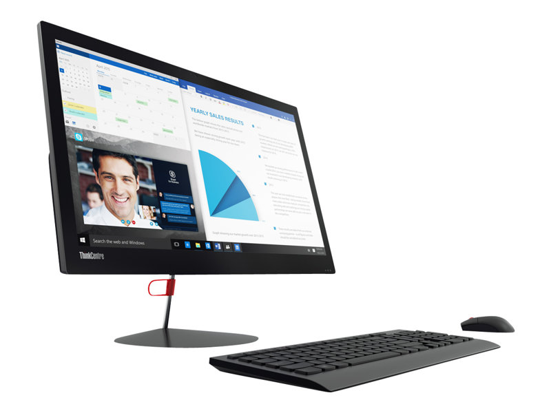 Lenovo ThinkCentre X1 10JX - All-in-one - with Orchid Tilt Stand - 1 x Core i7 6600U / 2.6 GHz - RAM 8 GB - SSD 240 GB - TCG Opal Encryption 2 - HD Graphics 520 - GigE - WLAN: 802.11a/b/g/n/ac, Bluetooth 4.1 - Win 7 Pro 64-bi