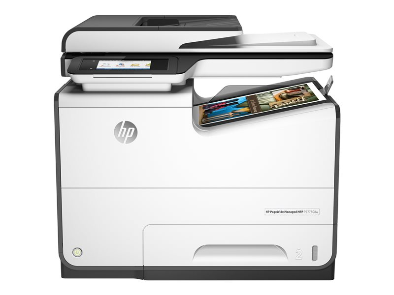 HP PageWide Managed MFP P57750dw - Multifunction printer - colour - page wide array - 216 x 356 mm (original) - A4/Legal (media) - up to 75 ppm (printing) - 500 sheets - 33.6 Kbps - USB 2.0, LAN, USB 2.0 host, USB 2.0 host (i