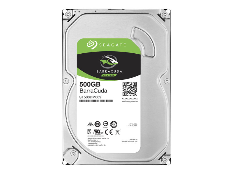 Seagate Barracuda ST500DM009 - Hard drive - 500 GB - internal - 3.5 - SATA 6Gb/s - 7200 rpm - buffer: 32 MB