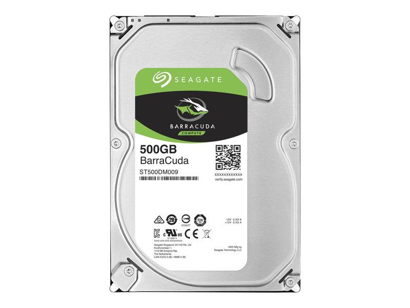 Seagate Barracuda ST500DM009 - Hard drive - 500 GB - internal - 3.5 - SATA 6Gb/s - 7200 rpm - buffer: 32 MB
