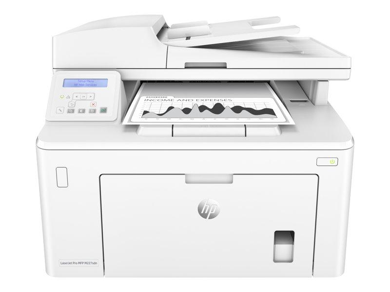 HP LaserJet Pro MFP M227sdn - Multifunction printer - B/W - laser - Legal (216 x 356 mm) (original) - A4/Legal (media) - up to 28 ppm (copying) - up to 28 ppm (printing) - 250 sheets - USB 2.0, LAN