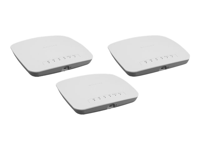 NETGEAR Insight Managed Smart Cloud (WAC510) - Wireless router - GigE, 802.11ac Wave 2 - 802.11a/b/g/n/ac Wave 2 - Dual Band - wall-mountable, ceiling-mountable (pack of 3)