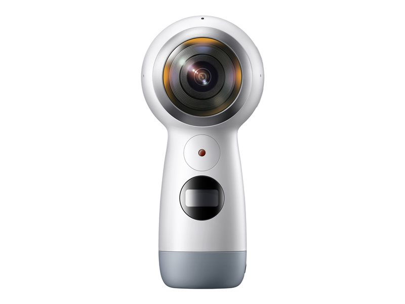 Samsung GALAXY Gear 360 (2017) - 360?action camera - mountable - 4K / 24 fps - 8.4 MP - Wi-Fi, Bluetooth - white