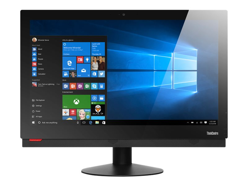 Lenovo ThinkCentre M910z 10NS - All-in-one - with Basic Stand - 1 x Core i5 7400 / 3 GHz - RAM 4 GB - HDD 500 GB - DVD-Writer - HD Graphics 630 - GigE - WLAN: 802.11ac, Bluetooth 4.1 - Win 10 Pro 64-bit - monitor: LED 23.8 1