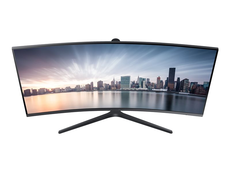 LC34H890WJUXEN LED monitor - curved - 34 - 3440 x 1440 - VA - 300 cd/m2 - 3000:1 - 4 ms - HDMI, DisplayPort, USB-C - dark silver