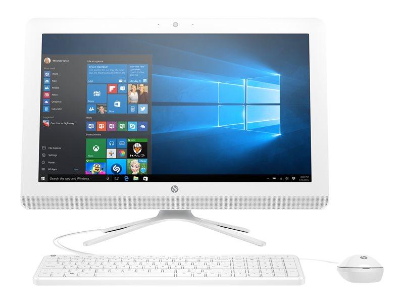 HP 24-g006na - All-in-one - 1 x Pentium J3710 / 1.6 GHz - RAM 4 GB - HDD 1 TB - DVD-Writer - HD Graphics - GigE - WLAN: 802.11b/g/n, Bluetooth 4.0 - Win 10 Home 64-bit - monitor: LED 23.8 1920 x 1080 (Full HD) - keyboard: UK