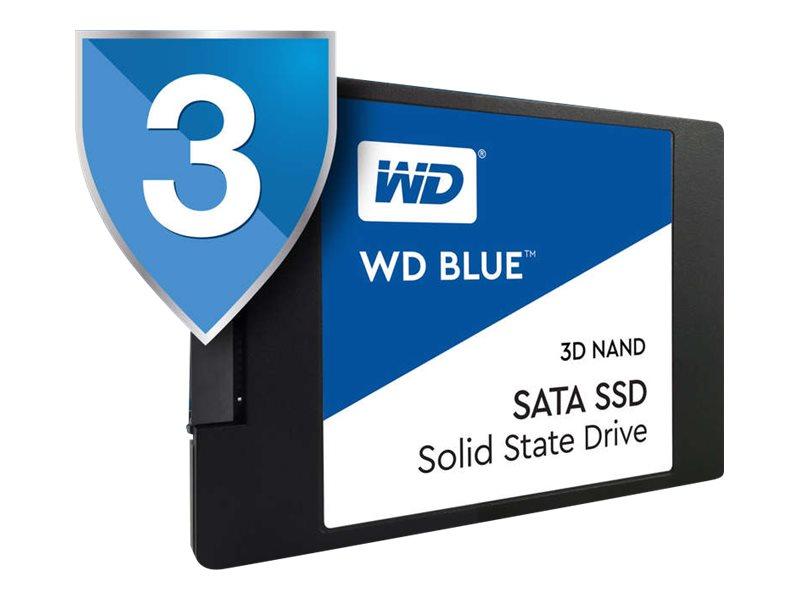 WD Blue 3D NAND SATA SSD WDS500G2B0A - Solid state drive - 500 GB - internal - 2.5 - SATA 6Gb/s