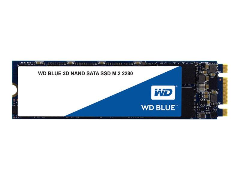 WD Blue 3D NAND SATA SSD WDS100T2B0B - Solid state drive - 1 TB - internal - M.2 2280 - SATA 6Gb/s