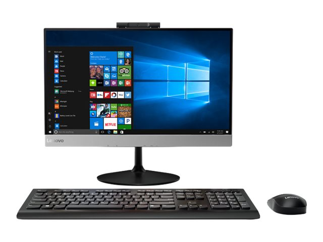 Lenovo V410z 10QV - All-in-one - with monitor stand - 1 x Core i3 7100T / 3.4 GHz - RAM 4 GB - HDD 500 GB - DVD-Writer - HD Graphics 630 - GigE - WLAN: Bluetooth 4.0, 802.11a/b/g/n/ac - Win 10 Pro 64-bit - monitor: LED 21.5