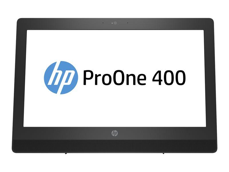 HP ProOne 400 G3 - All-in-one - 1 x Core i3 7100T / 3.4 GHz - RAM 4 GB - HDD 500 GB - DVD SuperMulti - HD Graphics 630 - GigE - WLAN: 802.11a/b/g/n/ac, Bluetooth 4.2 - Win 10 Pro 64-bit - monitor: LED 20 1600 x 900 (HD+) - k