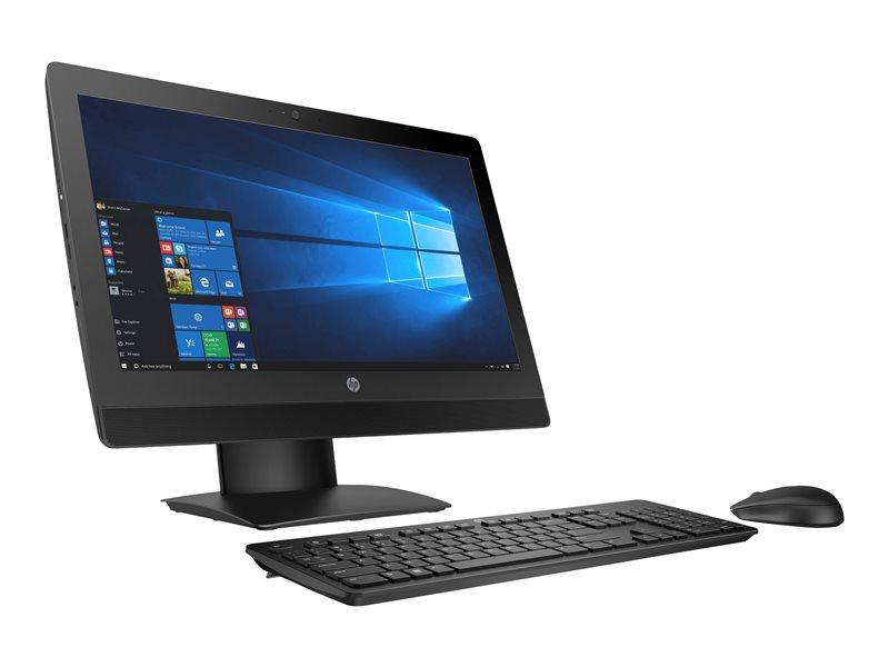 HP ProOne 600 G3 - All-in-one - 1 x Core i5 7500 / 3.4 GHz - RAM 8 GB - SSD 256 GB - NVMe, HP Turbo Drive, TLC - DVD-Writer - HD Graphics 630 - GigE - WLAN: 802.11a/b/g/n/ac, Bluetooth 4.2 - Win 10 Pro 64-bit - monitor: LED 2