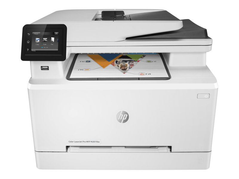 HP Color LaserJet Pro MFP M281fdw - Multifunction printer - colour - laser - Legal (216 x 356 mm) (original) - A4/Legal (media) - up to 21 ppm (copying) - up to 21 ppm (printing) - 250 sheets - 33.6 Kbps - USB 2.0, Gigabit LA
