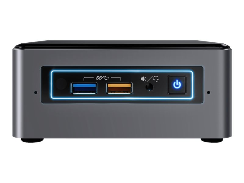 Intel Next Unit of Computing Kit NUC7I3BNHXF - Mini PC - 1 x Core i3 7100U / 2.4 GHz - RAM 4 GB - HDD 1 TB - HD Graphics 620 - GigE - WLAN: 802.11a/b/g/n/ac, Bluetooth 4.2 - Win 10 Home 64-bit - monitor: none
