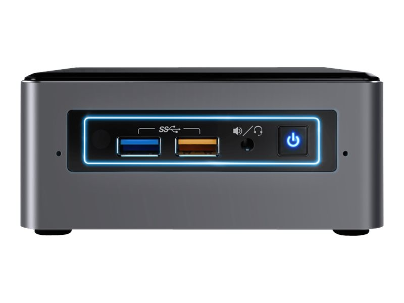 Intel Next Unit of Computing Kit NUC7I5BNHXF - Mini PC - Core i5 7260U / 2.2 GHz - RAM 4 GB - HDD 1 TB - Iris Plus Graphics 640 - GigE - WLAN: 802.11a/b/g/n/ac, Bluetooth 4.2 - Win 10 Home 64-bit - monitor: none