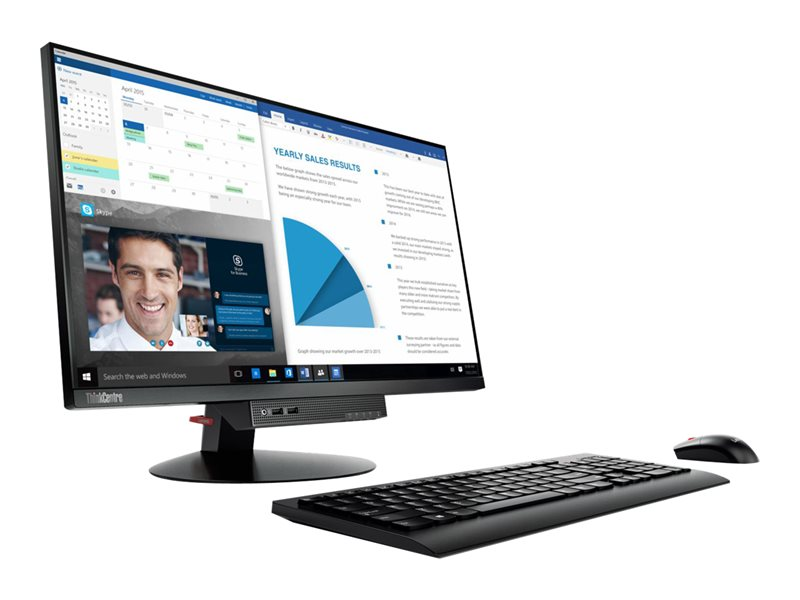 Lenovo ThinkCentre Tiny-in-One 24 - Gen 3 - LED monitor - 23.8 (23.8 viewable) - touchscreen - 1920 x 1080 Full HD (1080p) - IPS - 250 cd/m?- 1000:1 - 4 ms - DisplayPort - speakers - black