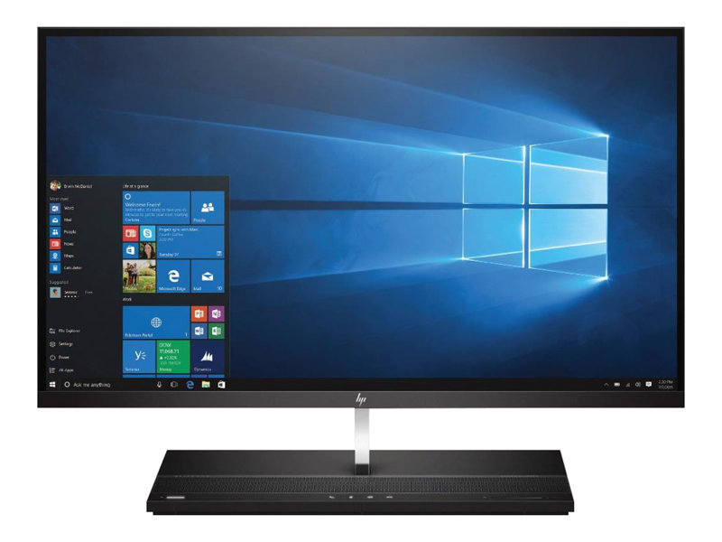 HP EliteOne 1000 G1 - All-in-one - Core i5 7500 / 3.4 GHz - RAM 8 GB - SSD 256 GB - NVMe - HD Graphics 630 - GigE - Win 10 Pro 64-bit - monitor: LED 27 3840 x 2160 (Ultra HD 4K)