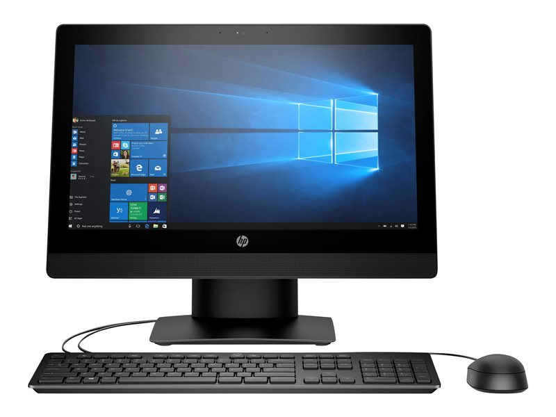 HP ProOne 400 G3 - All-in-one - 1 x Core i5 7500T / 2.7 GHz - RAM 4 GB - HDD 1 TB - DVD-Writer - HD Graphics 630 - GigE - WLAN: 802.11a/b/g/n/ac, Bluetooth 4.2 - Win 10 Home 64-bit - monitor: LED 20 1600 x 900 (HD+) - keyboa