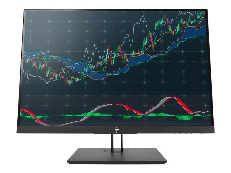 HP Z24n G2 - LED monitor - 24 (24 viewable) - 1920 x 1200 WUXGA - IPS - 300 cd/m? - 1000:1 - 5.8 ms - DisplayPort, HDMI, DVI-D, USB-C - Black Pearl