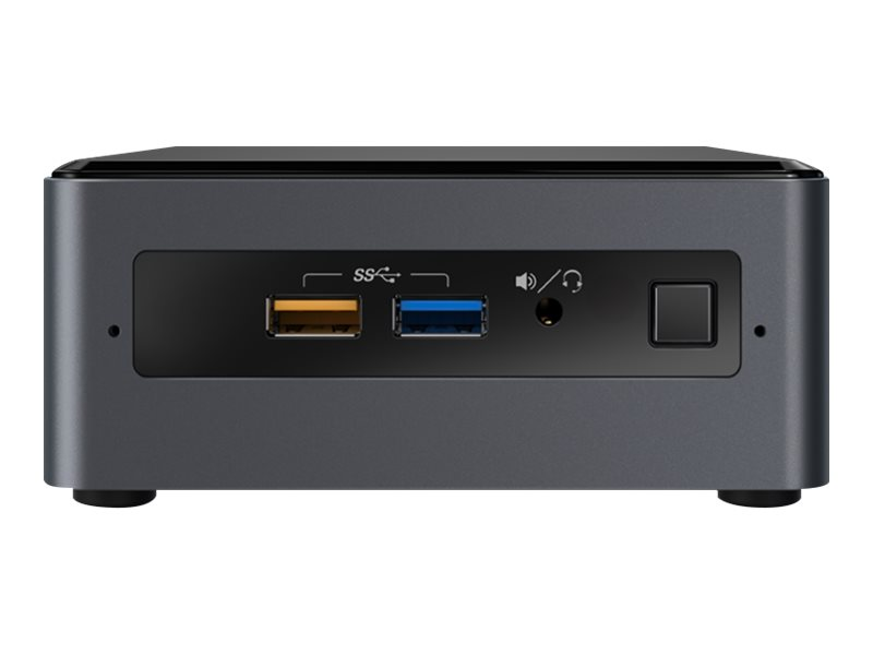 Intel Next Unit of Computing Kit NUC7PJYH - Barebone - mini PC - 1 x Pentium Silver J5005 / 1.5 GHz - UHD Graphics 605 - GigE, Bluetooth 5.0 - WLAN: 802.11a/b/g/n/ac, Bluetooth 5.0 - vPro