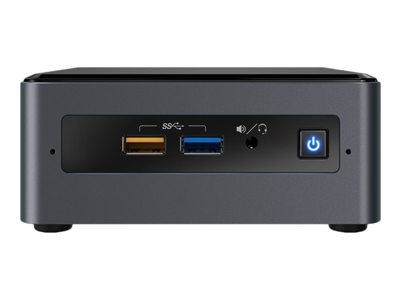 Intel Next Unit of Computing Kit NUC7CJYH - Barebone - mini PC - 1 x Celeron J4005 / 2 GHz - HD Graphics 600 - GigE, Bluetooth 5.0 - WLAN: 802.11a/b/g/n/ac, Bluetooth 5.0 - vPro