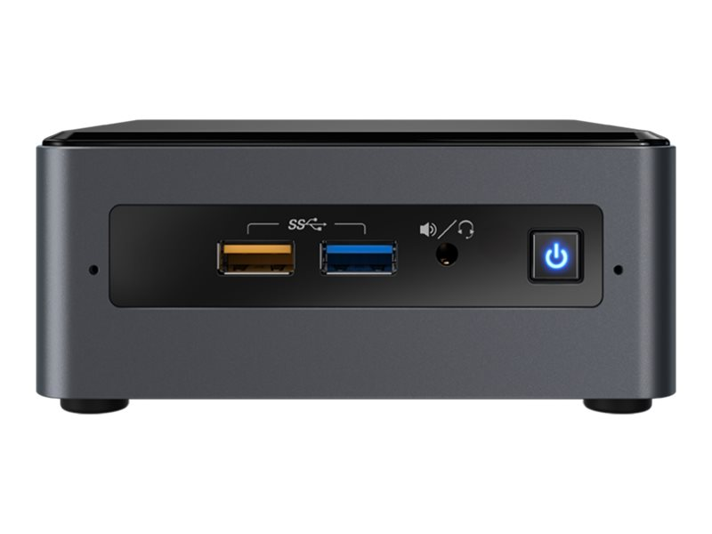 Intel Next Unit of Computing Kit NUC7CJYSAL - Barebone - mini PC - 1 x Celeron J4005 / 2 GHz - RAM 4 GB - flash - eMMC 32 GB - HD Graphics 600 - GigE, Bluetooth 5.0 - WLAN: 802.11a/b/g/n/ac, Bluetooth 5.0 - Win 10 Home 64-bit