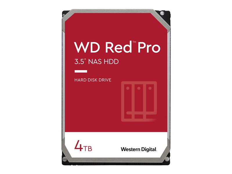 WD Red Pro NAS Hard Drive WD4003FFBX - Hard drive - 4 TB - internal - 3.5 - SATA 6Gb/s - 7200 rpm - buffer: 256 MB