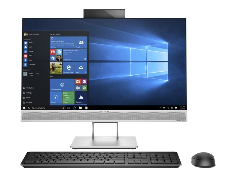 HP EliteOne 800 G3 - All-in-one - 1 x Core i5 7500 / 3.4 GHz - RAM 8 GB - HDD 1 TB - DVD-Writer - HD Graphics 630 - GigE - WLAN: 802.11a/b/g/n/ac, Bluetooth 4.2 - Win 10 Pro 64-bit - vPro - monitor: LED 23.8 1920 x 1080 (Ful