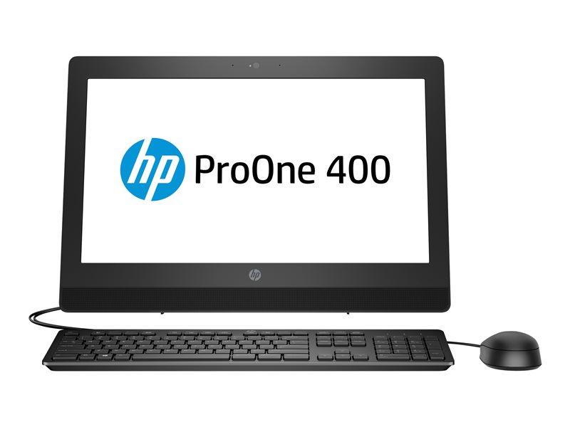 HP ProOne 400 G3 - All-in-one - 1 x Core i5 7500 / 3.4 GHz - RAM 4 GB - SSD 256 GB - NVMe - DVD-Writer - HD Graphics 630 - GigE - Win 10 Home Single Language 64-bit - monitor: LED 20 1600 x 900 (HD+) - keyboard: UK