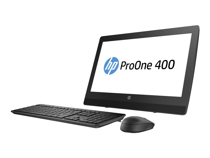 HP ProOne 400 G3 - All-in-one - 1 x Core i3 7100T / 3.4 GHz - RAM 8 GB - HDD 1 TB - DVD-Writer - HD Graphics 630 - GigE - WLAN: 802.11a/b/g/n/ac, Bluetooth 4.2 - Win 10 Pro 64-bit - monitor: LED 20 1600 x 900 (HD+)