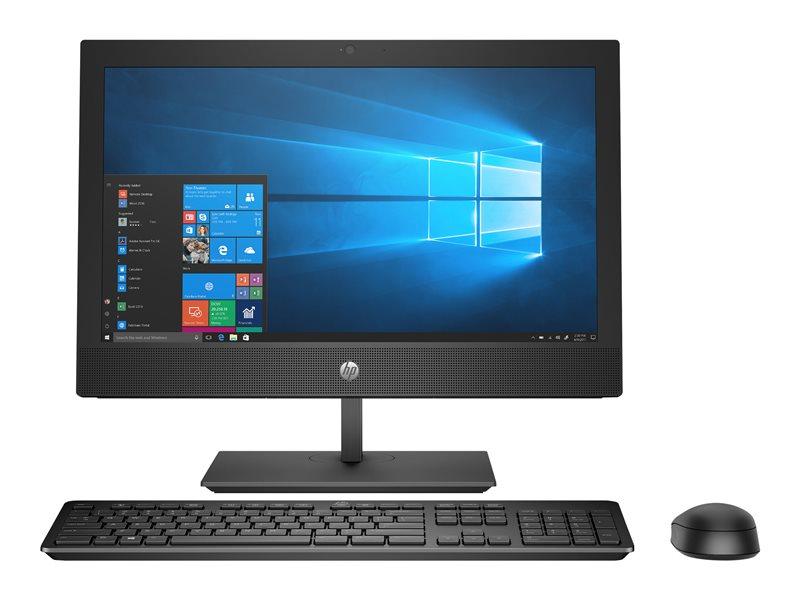 HP ProOne 400 G4 - All-in-one - 1 x Core i5 8500T / 2.1 GHz - RAM 8 GB - SSD 256 GB - NVMe - DVD-Writer - UHD Graphics 630 - GigE, Bluetooth 5.0 - WLAN: 802.11a/b/g/n/ac, Bluetooth 5.0 - Win 10 Home 64-bit - monitor: LED 20