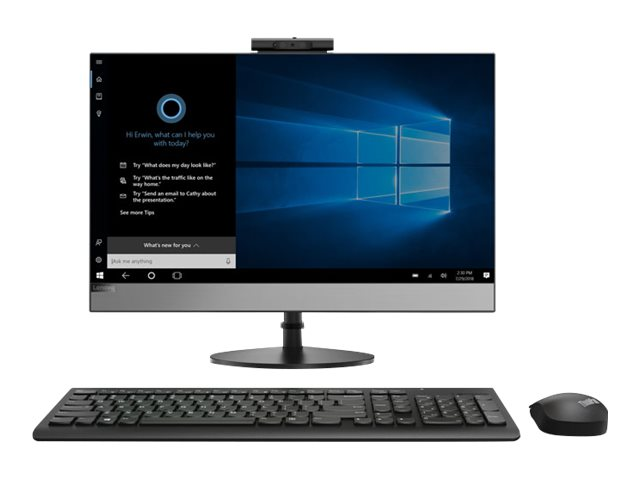 Lenovo V530-24ICB 10UW - All-in-one - with monitor stand - 1 x Core i5 8400T / 1.7 GHz - RAM 8 GB - SSD 256 GB - DVD-Writer - UHD Graphics 630 - GigE - WLAN: Bluetooth 4.0, 802.11a/b/g/n/ac - Win 10 Pro 64-bit - monitor: LED