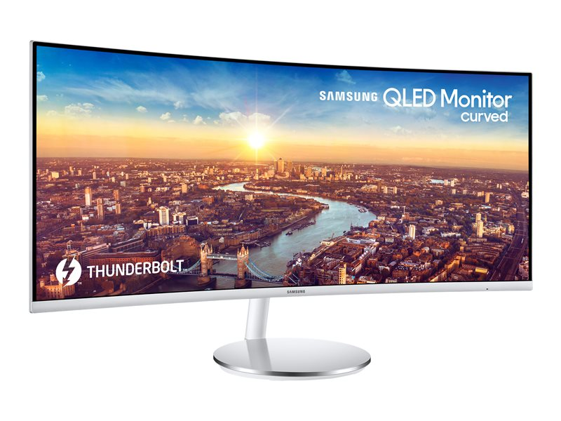 Samsung CJ79 Series C34J791WTU - LED monitor - curved - 34 (34 viewable) - 3440 x 1440 Ultra WQHD - VA - 300 cd/m? - 3000:1 - 4 ms - 2xThunderbolt 3, HDMI, DisplayPort - speakers - grey