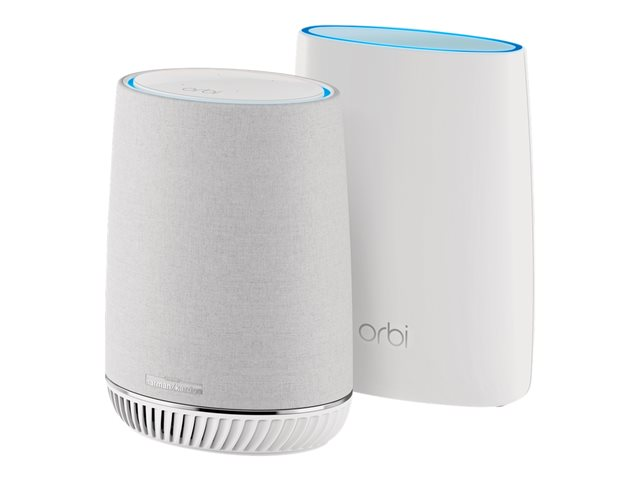 NETGEAR Orbi RBK50V - Wi-Fi system (router) - up to 4,500 sq.ft - mesh - GigE - 802.11a/b/g/n/ac - Tri-Band - with Orbi Voice Smart Speaker (RBK50V)