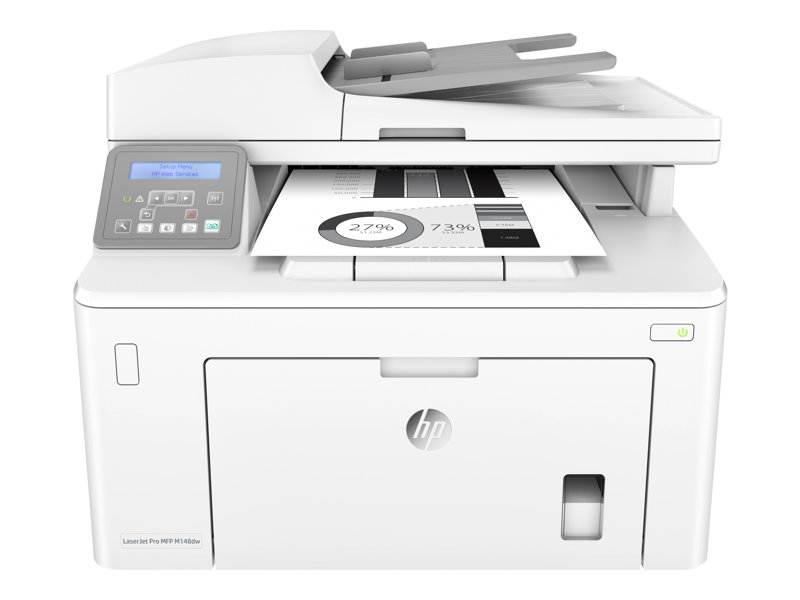 HP LaserJet Pro MFP M148dw - Multifunction printer - B/W - laser - 215.9 x 355.6 mm (original) - A4/Legal (media) - up to 23 ppm (copying) - up to 28 ppm (printing) - 250 sheets - USB 2.0, LAN, Wi-Fi(n)