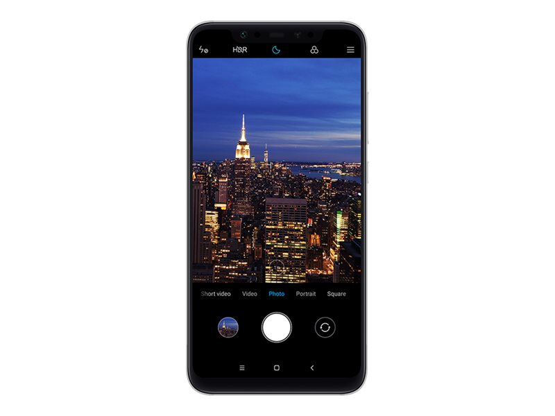 Xiaomi MI 8 - Smartphone - dual-SIM - 4G LTE - 64 GB - CDMA / GSM - 6.21 - 2248 x 1080 pixels (402 ppi) - AMOLED - RAM 6 GB - 2x rear cameras (2x front cameras) - Android - black