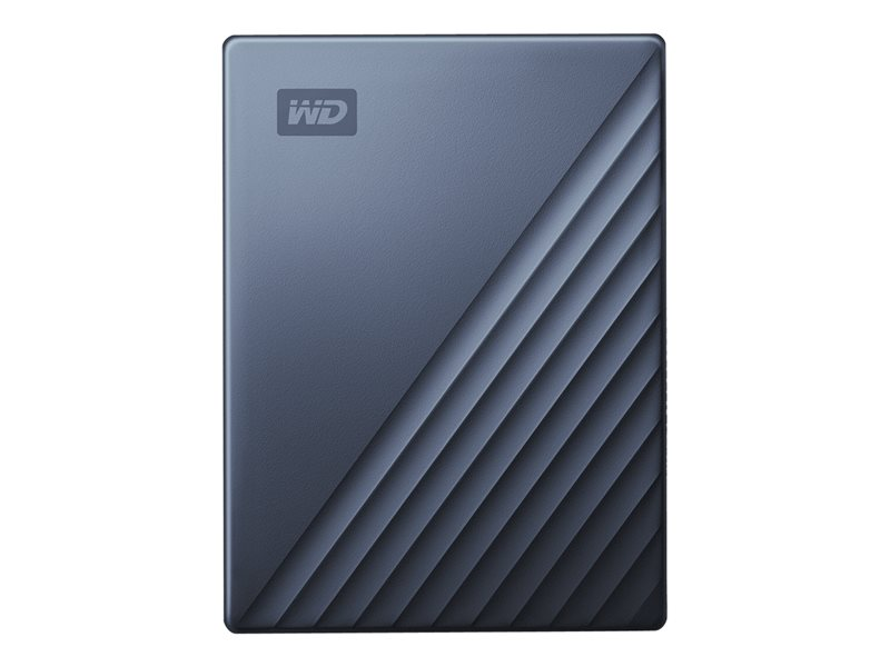 WD My Passport Ultra WDBC3C0020BBL - Hard drive - encrypted - 2 TB - external (portable) - USB 3.0 (USB-C connector) - 256-bit AES - blue