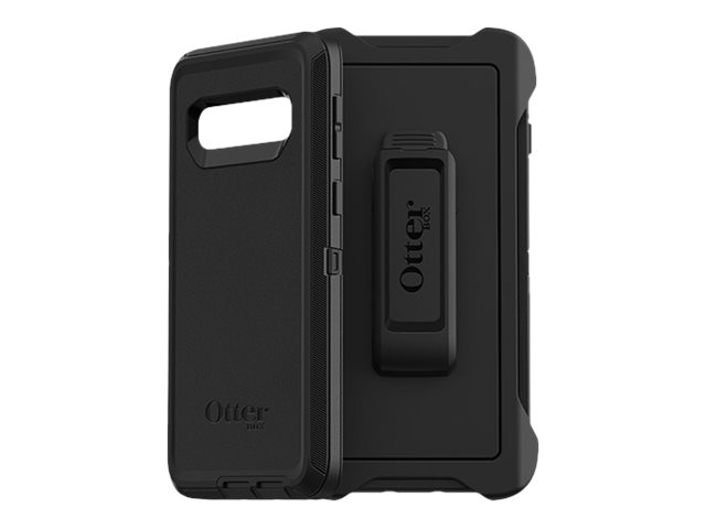 OtterBox Defender Series - Screenless Edition - back cover for mobile phone - rugged - polycarbonate, synthetic rubber - black - for Samsung Galaxy S10