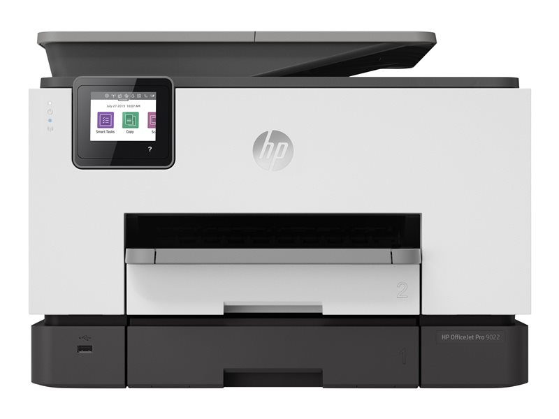 HP Officejet Pro 9022 All-in-One - Multifunction printer - colour - ink-jet - Legal (216 x 356 mm) (original) - A4/Legal (media) - up to 23 ppm (copying) - up to 39 ppm (printing) - 250 sheets - USB 2.0, LAN, Wi-Fi(n), USB ho